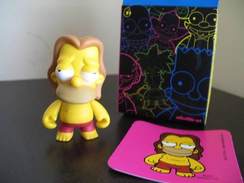 Simpsons Kidrobot vinyl HIPPEE HOMER  figure w guitar