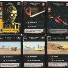 Star Wars Young Jedi ccg 6 holo foil card lot MODM