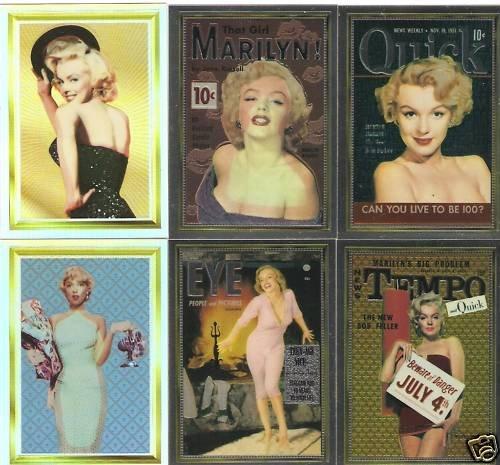 Marilyn Monroe Cover Girl Chromium Holochome 6 card lot