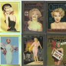 Marilyn Monroe Cover Girl Chromium Holochome 6 card lot
