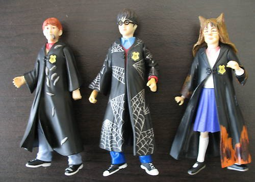 Harry Potter, Ron, Hermione Slime Chamber figure lot