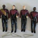 Star Trek TNG 1988 figure lot-Riker,Picard,Laforge,Worf