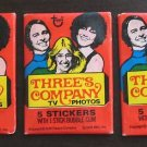 Three's Company 3 sealed sticker gum card wax packs