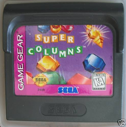 Sega Game Gear- SUPER COLUMNS - cartridge only.