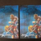 2 Legend SWORD OF MANA promo 3-D postcards
