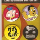 Family Suy Stewie,Cleveland Show,Simpsons FOX SDCC pins