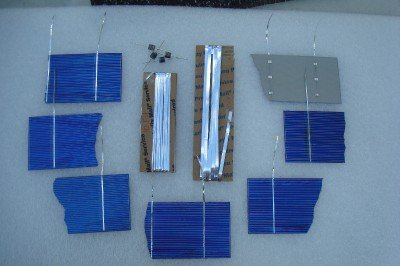 36 BROKEN SOLAR CELLS KIT for SOLAR PANEL Tab Bus Diode