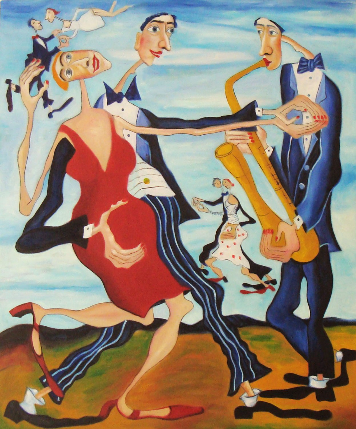ORIGINAL MODERN Surrealism OIL PAINTING own REAL ART!
