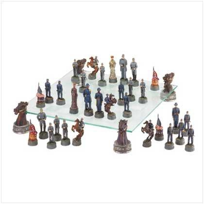 Deluxe Civil War Chess Set