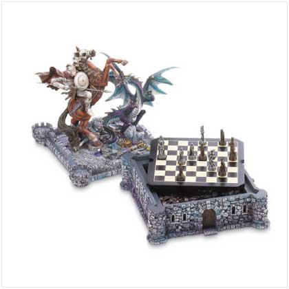 Dragon and Knight Chess Set