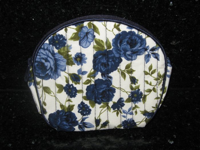 Blue Roses vintage style Coin bag