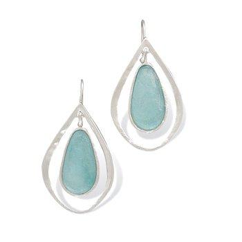 Pear Shaped Ancient Roman Glass Earrings