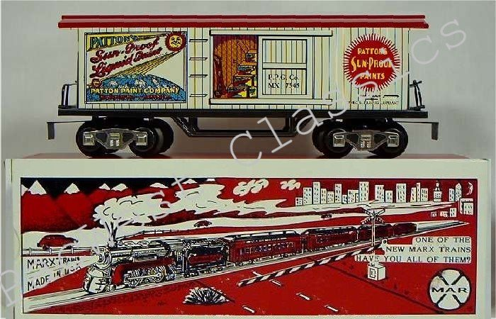 NEW MARX TRAINS Patton Paint Old-Time Boxcar / MINT