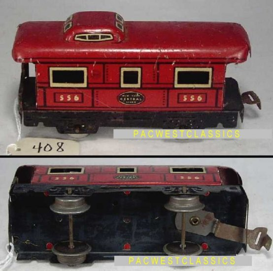 MARX TRAINS NYC 4-WHEEL CABOOSE #556 EX g408