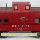 MARX TRAINS READING FOUR-AXEL 3/16 INCH CABOOSE - mxcab384