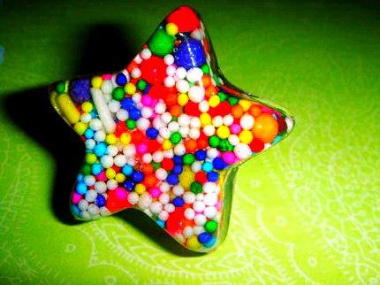 Star Candy Ring Betsey Johnson DIY HANDMADE! Sweet REAL