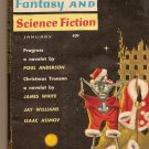 Magazine Of Fantasy And Science Fiction, January 1962 edited by Robert P. Mills