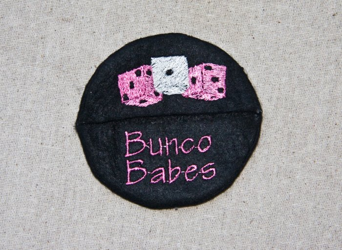 Bunco Babes Wine Glass Footie
