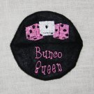 Bunco Queen Wine Glass Footie