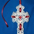 Elegant Lace Cross Bookmark