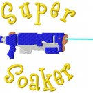 Super Soaker Embroidery Design