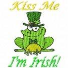 Kiss Me I'm Irish St Patrick Frog Machine Embroidery Design
