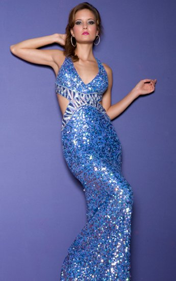CASSANDRA STONE 3309A $325 BLUE GOWN FREE SHIPPING