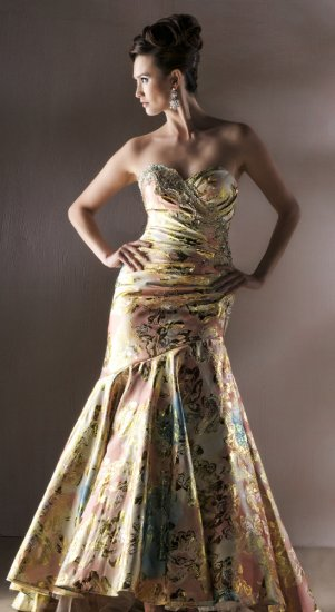 MAC DUGGAL 42255D $540 STRAPLESS GOWN FREE SHIPPING