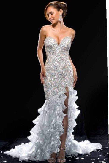 MAC DUGGAL 42340P $2695 CRYSTAL MERMAID GOWN FREE SHIPPING