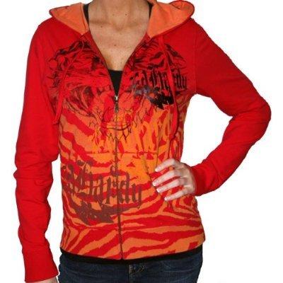 ED HARDY by Christian Audigier Womens Tattoo Hooded Sweatshirt Hoodie $79 ON SALE FREE SHIPPING
