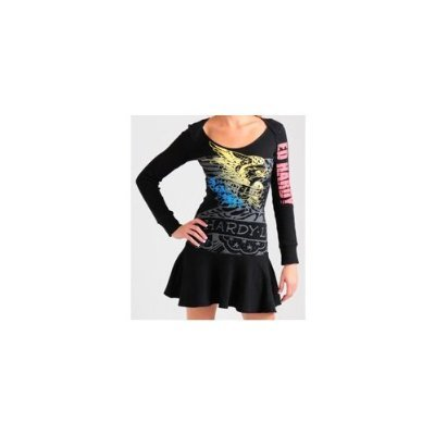 "Ed Hardy Thermal Dress Eagle ""Hardy Life"" Glows in the Dark $119 FREE SHIPPING"