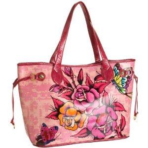 Ed Hardy Rosalind Tote PINK $99 FREE SHIPPING