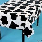 6 COW PRINT Tablecloth PARTY FARM Cow SPOTS 54x72 Barn