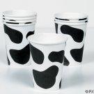 8 Cow Print Paper CUPS Barnyard Farm Party Cow Spot 9oz