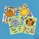 12 Sticker Sheets Zoo Safari Jungle ANIMAL Party Favors