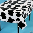 "COW PRINT Tablecloth PARTY FARM Animal Cow SPOTS 54x72"""