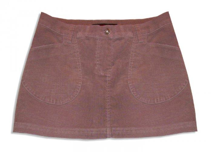David Bitton Buffalo Jeans Taupe Thin Corduroy Stretch Hip Mini Skirt-Size 26
