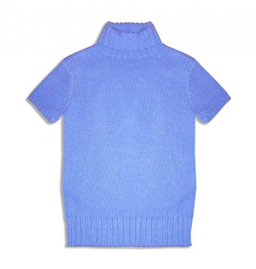Old Navy Beautiful Blue Thick Turtleneck Short Sleeve Sweater Top-Medium