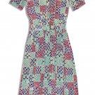 Leslie Fay VTG 80's Beautiful Print Shirtwaist Dress with Belt-Size 8