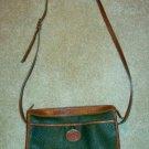 Green and Saddle Tan AWL-Look Classic Handbag urse