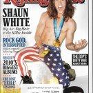 ROLLING STONE #1100 - 2010 SHAUN WHITE, BILLY CORGAN