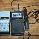 2 Vintage Micro Cassette Recorder PANASONIC RN-163 UNITREX Memocorder