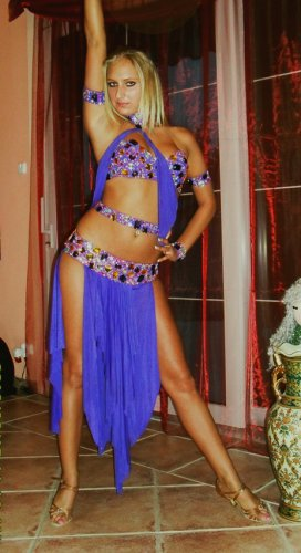 Purple latin dress