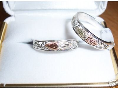 Black Hills Gold & silver Band rings sz 5 to13 in stock