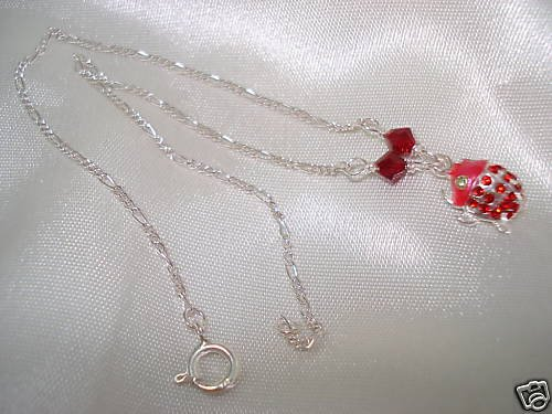 Sterling Silver 925 LADYBUG Anklet up to 10-1/4 inch