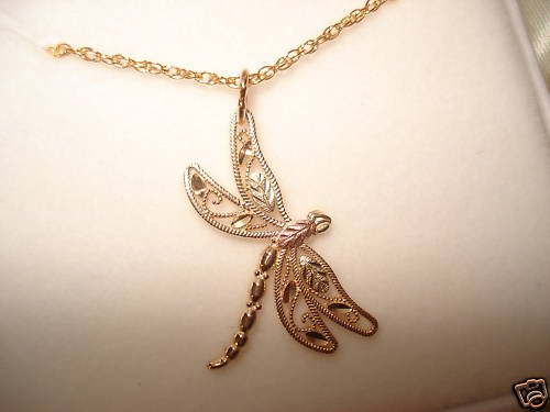 Black Hills Gold DRAGONFLY NECKLACE - NO SILVER!