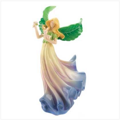 Violet Blossom Angel Figurine