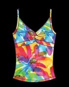 Luminary Sunsets 2010 Collection Twist Front Tankini top - 77T specialty cup 36DD