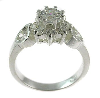 #100. Solid silver engagement ring (DSR447)