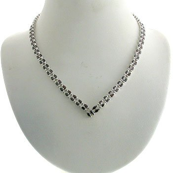#201.  925 Silver with Genuine Garnet Necklace